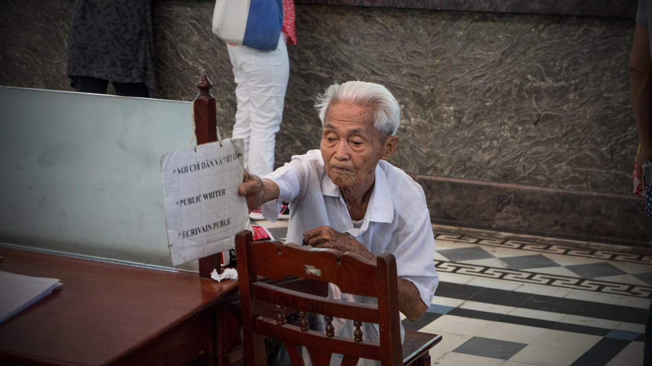 Almost 90, He's the Last Man in Saigon Writing Letters to Survive