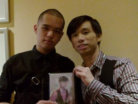 Kurt with the only person who bought a copy of his single.