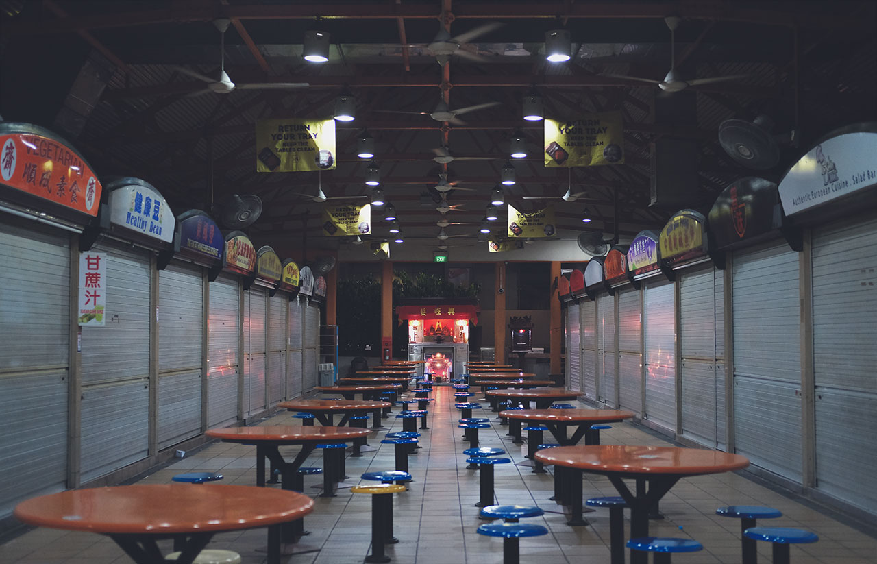 Midnight at Maxwell Food Centre: A Shadow of a Once Lucrative Hawker Business