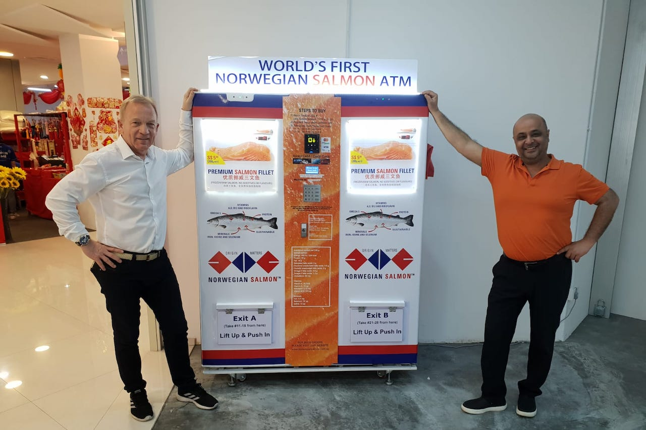 From Norway With Love: Meet The Man Who Created Singapore's First Salmon ATM