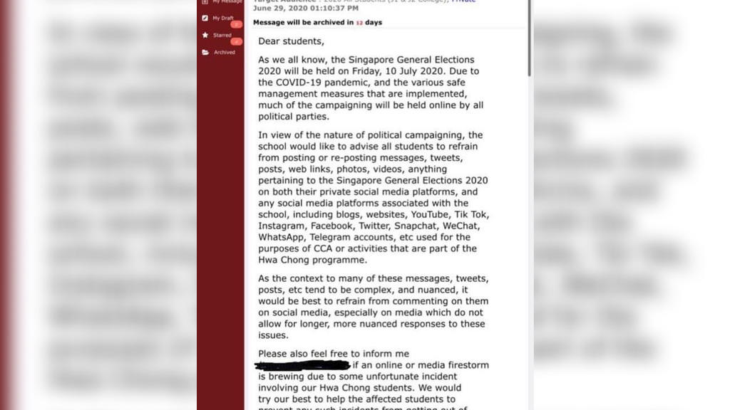 An Open Letter to Hwa Chong Institution
