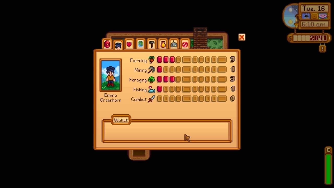Farming skill levels